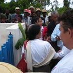 Inauguration du puits -- Remise des rubans aux instances officielles
