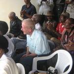 Inauguration du puits -- Forte émotion pour Jean-Pierre