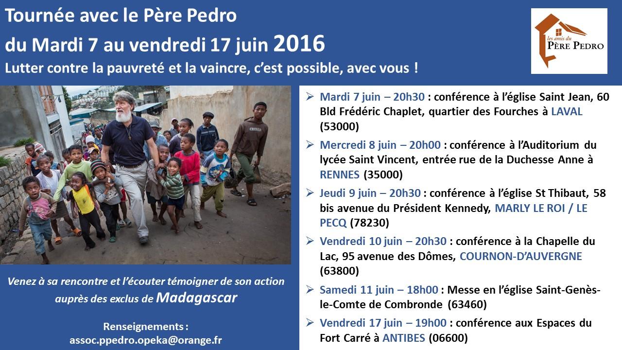 Conférence du Père Pedro à Antibes